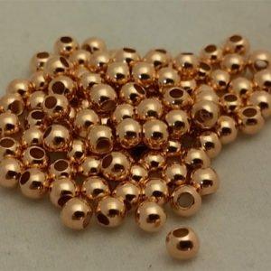 Rose-gold beads