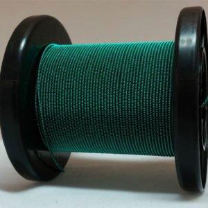 Dunkelgrün selbst gemachter emaillierter und gesponnener Kupferdraht auf Rolle