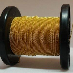 Gold selbst gemachter emaillierter und gesponnener Kupferdraht auf Rolle