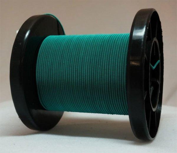 Grün selbst gemachter emaillierter und gesponnener Kupferdraht auf Rolle