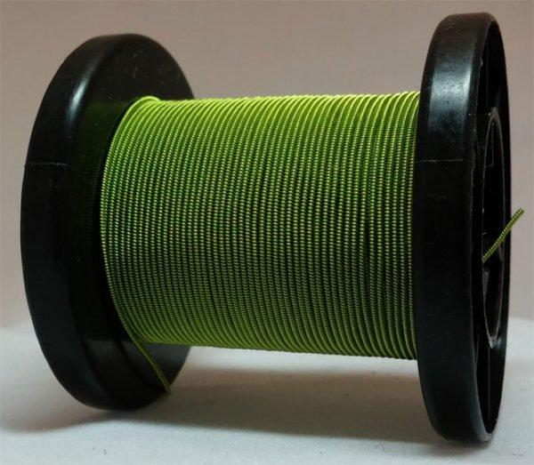 Hellgrün selbst gemachter emaillierter und gesponnener Kupferdraht auf Rolle