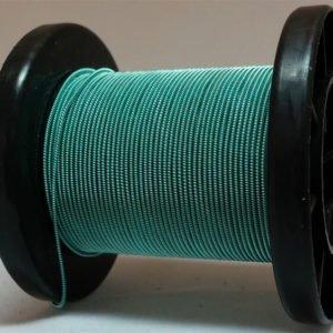 Mintgrün selbst gemachter emaillierter und gesponnener Kupferdraht auf Rolle