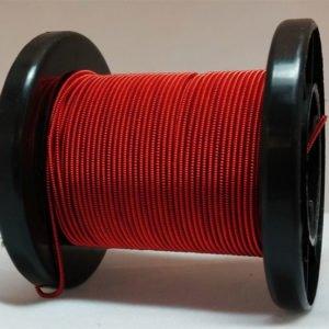 Rot selbst gemachter emaillierter und gesponnener Kupferdraht auf Rolle
