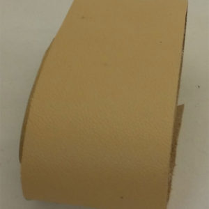 beige strap of tanned reindeer hide