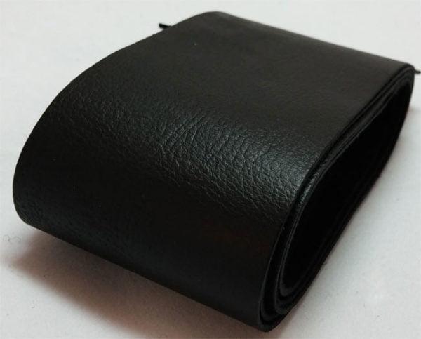 black strap of tanned reindeer hide