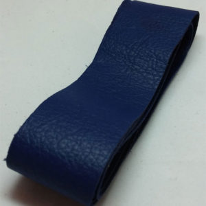 blue strap of tanned reindeer hide
