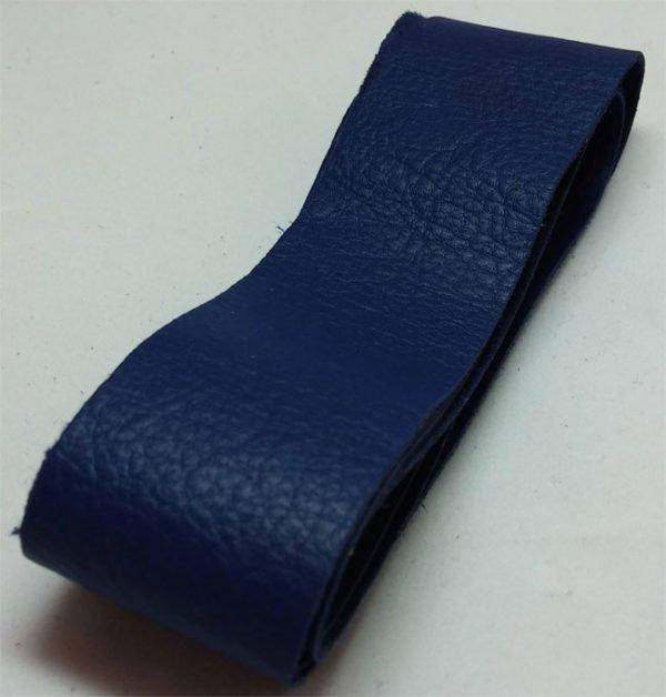 blue strap of tanned reindeer hide