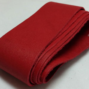 red strap of tanned reindeer hide