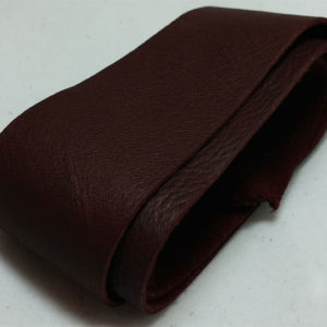 wine red strap of tanned reindeer hide
