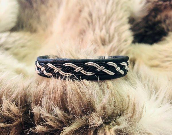 armband-iris-smycke-tenntråd-koppartråd-läder-slöjdmaterial