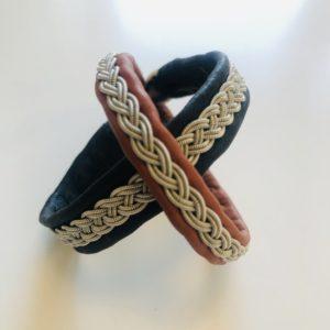 samiskt tennarmband i svart och brunt